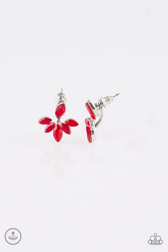 Radical Refinement - Red Earrings - Paparazzi Jewelry Earrings Earrings - Paparazzi Accessories