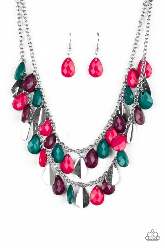 Life of the FIESTA Multicolored Necklace - Paparazzi Accessories Necklace set - Paparazzi Accessories