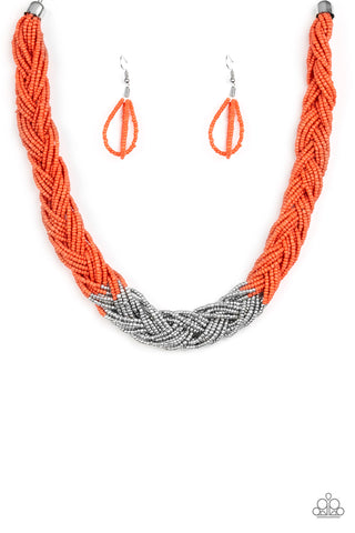 Paparazzi Brazilian Brilliance  - Orange Necklace set - Paparazzi Accessories