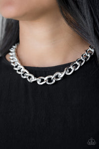 Heavyweight Champion Silver Paparazzi Necklace - JewelTonez Jewelry