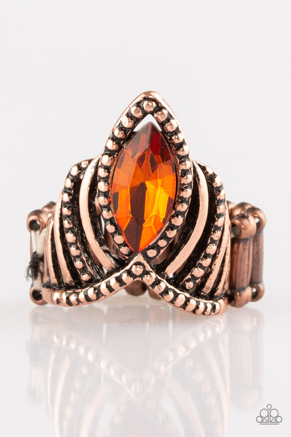 Here's Your Crown - Copper Rings - Paparazzi Jewelry Rings Ring - Paparazzi Jewelry Ring