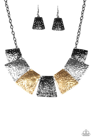 JewelTonez Here Comes The Huntress Multicolored Necklace - Paparazzi