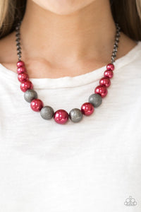 Color Me CEO Red Paparazzi Necklace - JewelTonez Jewelry