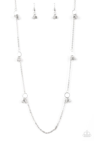 House Party Posh Silver Necklace - Paparazzi Accessories Necklace set - Paparazzi Accessories
