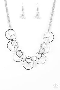 Seafront Scene White Necklace - Paparazzi Accessories Necklace set - Paparazzi Accessories