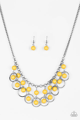 Really Rococo Yellow Beaded Necklace - Paparazzi Jewelry Necklaces Necklace set - Paparazzi Accessories