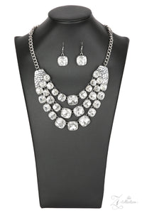 Unstoppable Zi Collection White Rhinestone Paparazzi Jewelry Necklaces Necklace set - Paparazzi Accessories