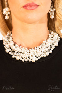 The Tracey 2018 Paparazzi Zi Collection Signature Series White Necklace - JewelTonez Jewelry