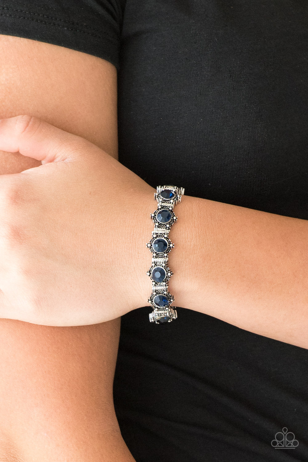 Strut Your Stuff Blue Paparazzi Bracelet - JewelTonez Jewelry