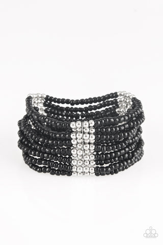 Outback Odyssey Black Bracelet Paparazzi - JewelTonez Jewelry