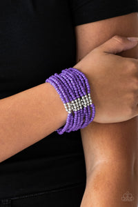 Outback Odyssey Purple Bracelet - Paparazzi - JewelTonez Jewelry