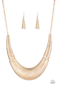 Feast or Famine Gold Necklace - Paparazzi Accessories Necklace set - Paparazzi Accessories