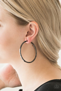 Dangerously Dynamic Black Paparazzi Earrings - JewelTonez Jewelry