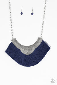 My PHARAOH Lady Blue Fringe Necklace - Paparazzi Accessories Necklace set - Paparazzi Accessories