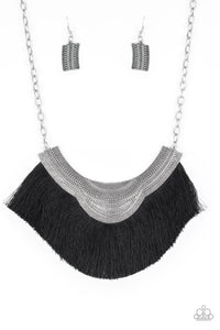 JewelTonez My PHARAOH Lady Black Necklace - Paparazzi