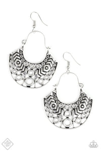 Indigenous Idol Silver Earrings - Paparazzi Accessories Earrings - Paparazzi Accessories