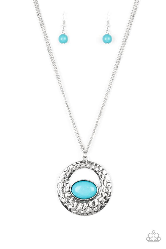 Viva Vivacious Blue Necklace - Paparazzi Accessories Necklace set - Paparazzi Accessories