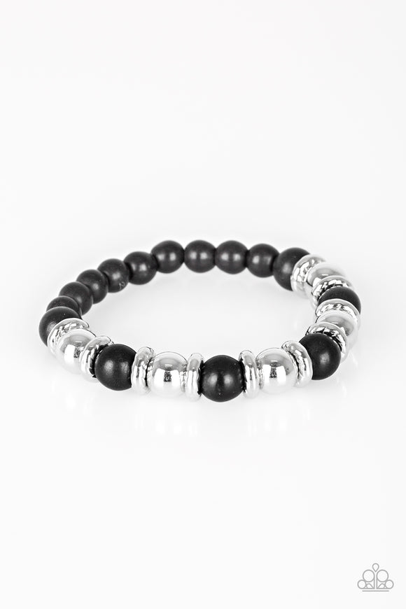Across The Mesa Black and Silver Bracelet - Paparazzi Jewelry Bracelets Bracelet - Paparazzi Jewelry Bracelet