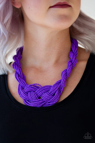 A Standing Ovation Purple Paparazzi Necklace - JewelTonez Jewelry