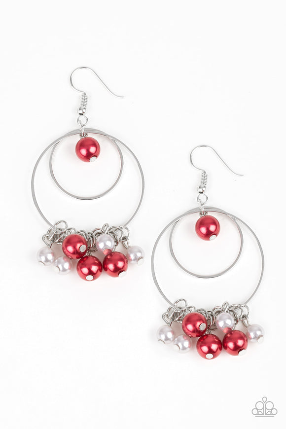 New York Attraction - Red Earrings - Paparazzi Jewelry Earrings Earrings - Paparazzi Accessories