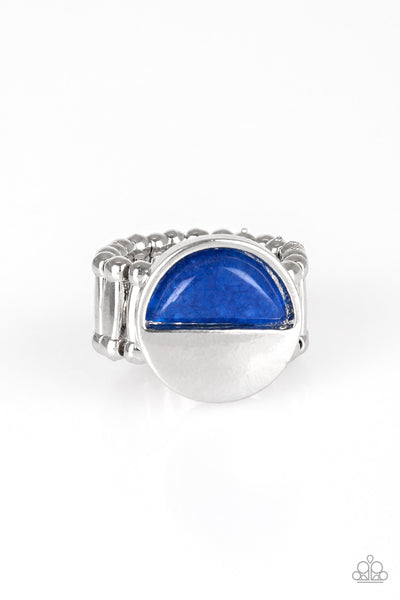Stone Seeker Blue Paparazzi Ring - JewelTonez Jewelry