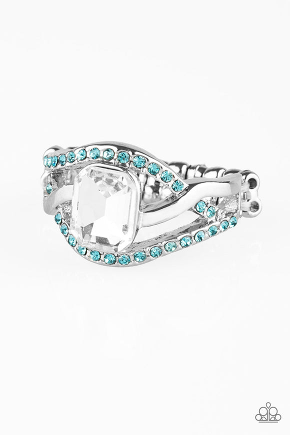 Bling It On Blue Rhinestone Rings - Paparazzi Accessories Ring - Paparazzi Accessories