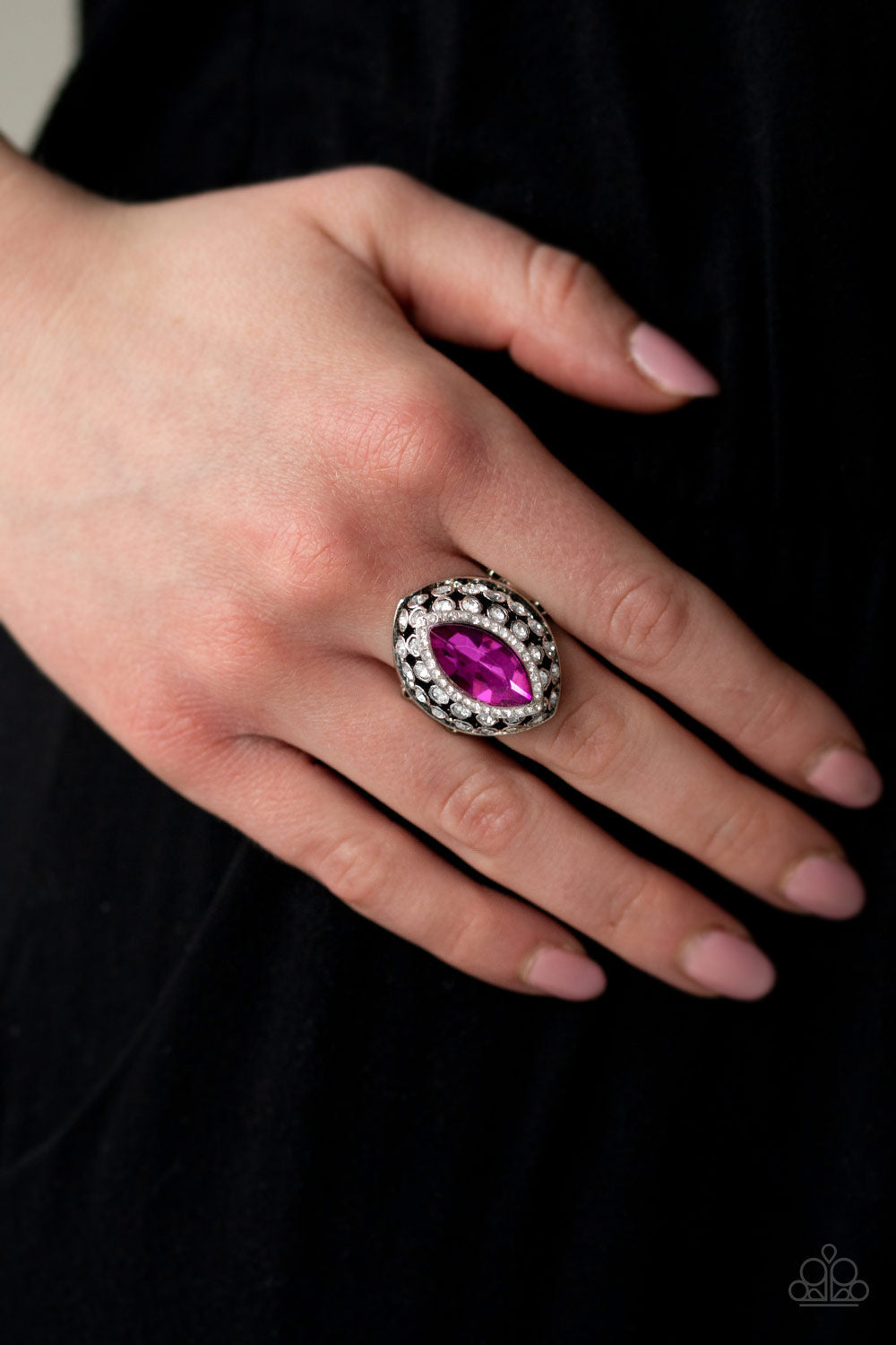 Royal Radiance Pink Paparazzi Ring - JewelTonez Jewelry