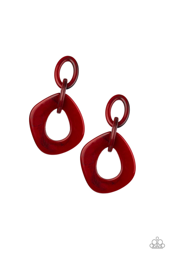 Torrid Tropicana - Red Earrings - Paparazzi Accessories