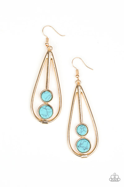 Natural Nova Gold Paparazzi Earrings - JewelTonez Jewelry