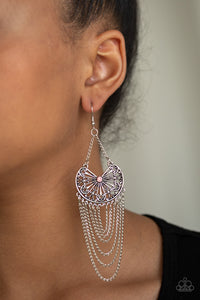 So Socially Butterfly Pink Paparazzi Earring - JewelTonez Jewelry
