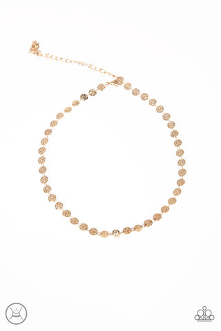 Summer Spotlight Gold Necklace - Paparazzi - JewelTonez Jewelry