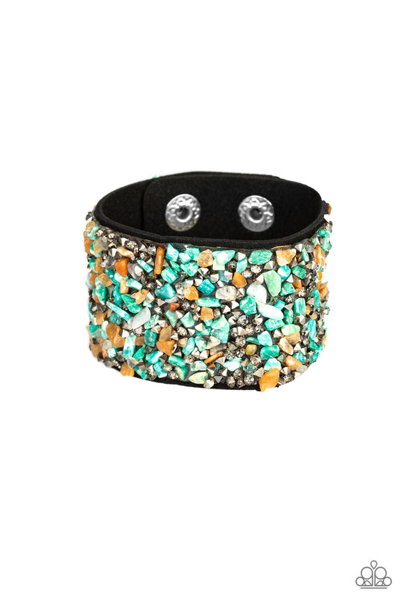 Crush Rush Multicolored Rhinestone Leather Bracelets - Paparazzi Accessories Bracelet - Paparazzi Accessories