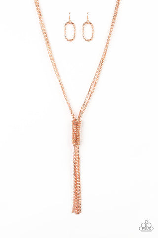 Paparazzi Boom Boom Knock You Out Copper Popcorn Chain Necklace - Paparazzi Accessories Necklace set - Paparazzi Accessories