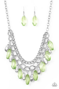 Spring Daydream Green Bead Necklace - Paparazzi Accessories Necklace set - Paparazzi Accessories