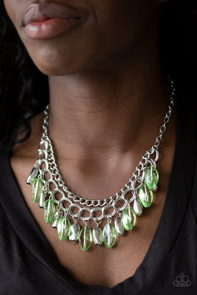 Spring Daydream Green Necklace Paparazzi Accessories - JewelTonez Jewelry