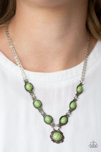 Desert Dreamin Green Paparazzi Necklace - JewelTonez Jewelry