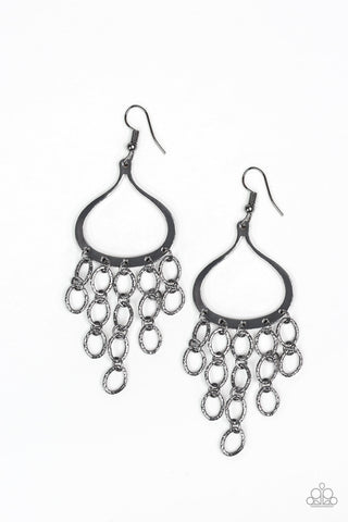 JewelTonez Total Net Revenue Black Earrings Paparazzi