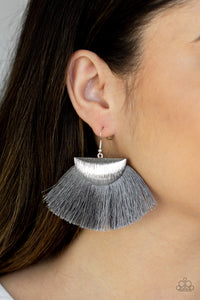 Fox Trap Silver Fringe Paparazzi Earrings - JewelTonez Jewelry