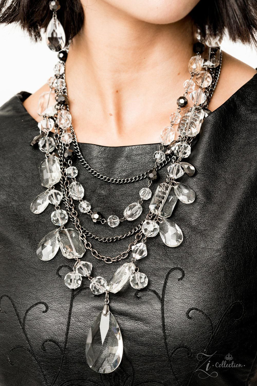 Prismatic 2019 Paparazzi Zi Collection Gunmetal Necklace - JewelTonez Jewelry