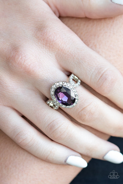 Magnificent Majesty Purple Paparazzi Ring - JewelTonez Jewelry