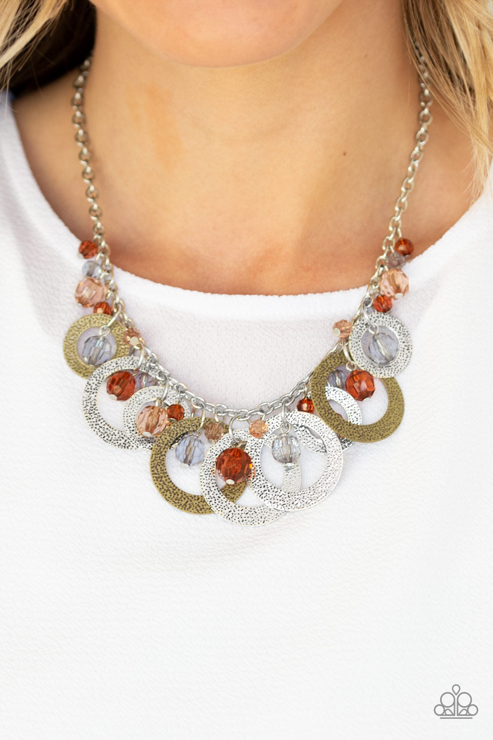 Turn It Up Multi Paparazzi Necklace - JewelTonez Jewelry