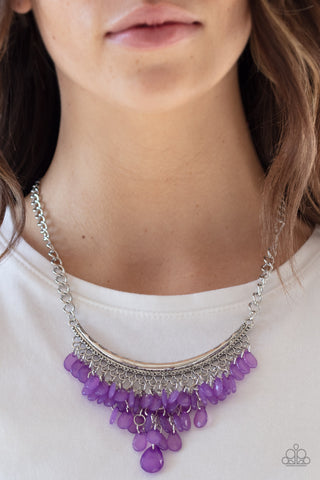 Rio Rainfall Purple Paparazzi Necklace
