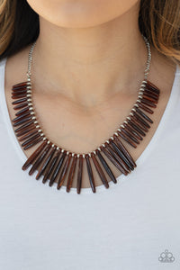 Out Of My Element Brown Paparazzi Necklace - JewelTonez Jewelry