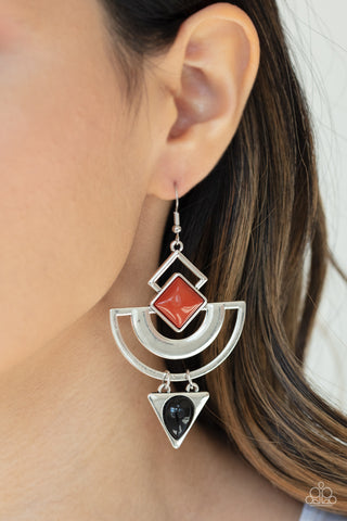 Geo Gypsy Multi Paparazzi Earrings - JewelTonez Jewelry