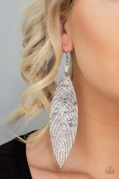 Feather Fantasy Multi Paparazzi Earrings - JewelTonez Jewelry