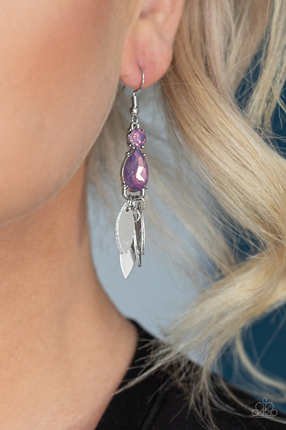 Tropical Tranquility Purple Earring - JewelTonez Jewelry