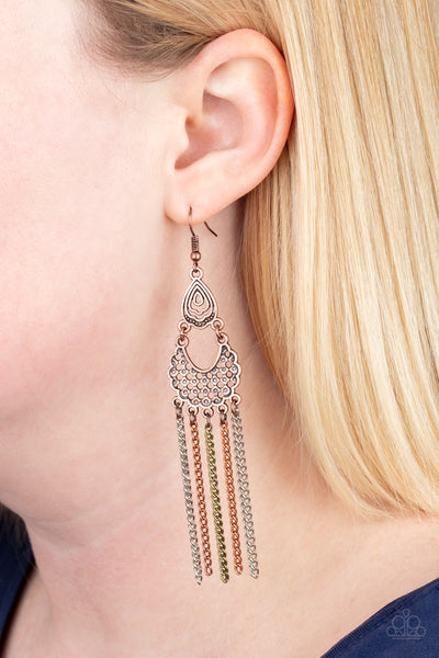 Insane Chain Multi Paparazzi Earrings - JewelTonez Jewelry