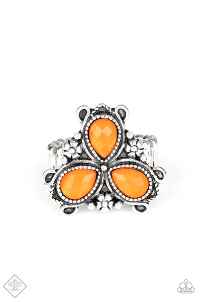 Ambrosial Garden Orange Paparazzi Ring - JewelTonez Jewelry