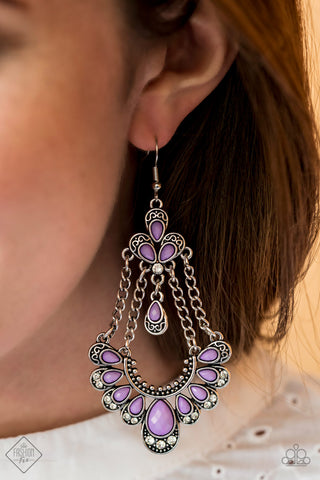Unique Chic Purple Paparazzi Earrings - JewelTonez Jewelry