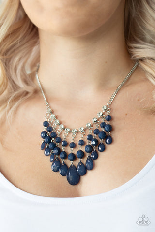 Social Network Blue Paparazzi Necklace